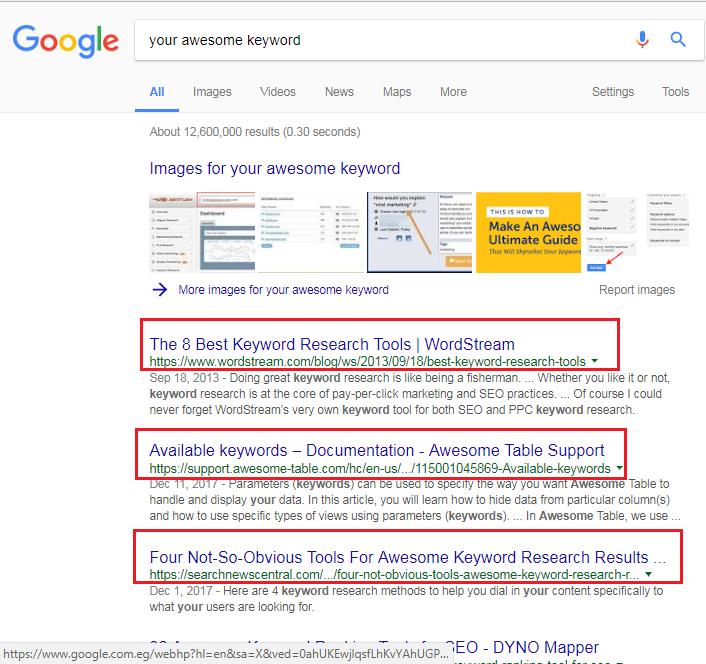 Google Top Positions